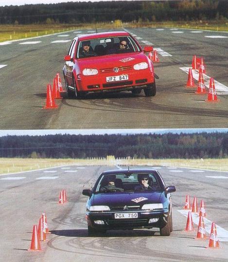 Xantia Activa contre Golf V6 4motion au test de l'élan